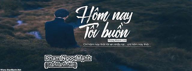 2 PSD Ảnh Bìa Facebook Hôm Nay Tôi Buồn | Phùng Khánh Linh