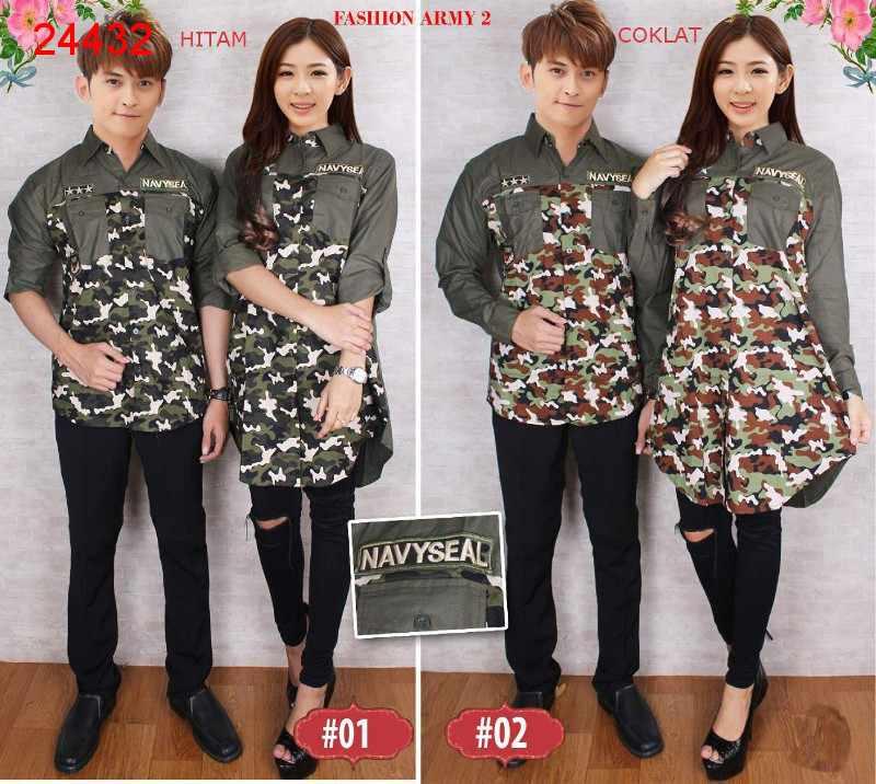 Jual Kemeja Couple Fashion Army 2 - 24432