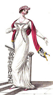 Evening full dress   from La Belle Assemblée (Feb 1811)
