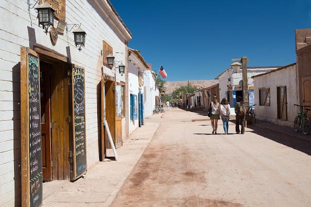 Compras no centro de San Pedro de Atacama