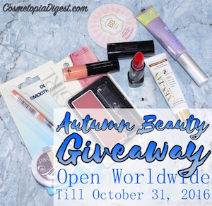 Autumn Beauty Giveaway Results