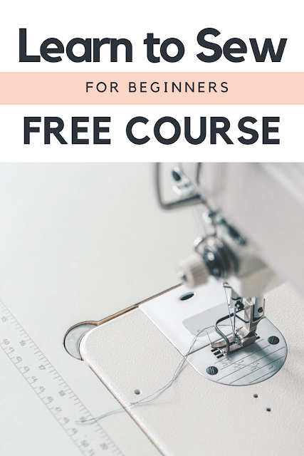 Have you been wanting to learn to sew?  Or maybe someone just gifted you a sewing machine but you haven't taken it out of the box?  Maybe you're a bit scared.  Or perhaps you use to sew and just need to brush up on some skills you have forgotten over the year.  Learn to sew online with this simple 6 lesson email sewing course with bonus lessons and patterns.
