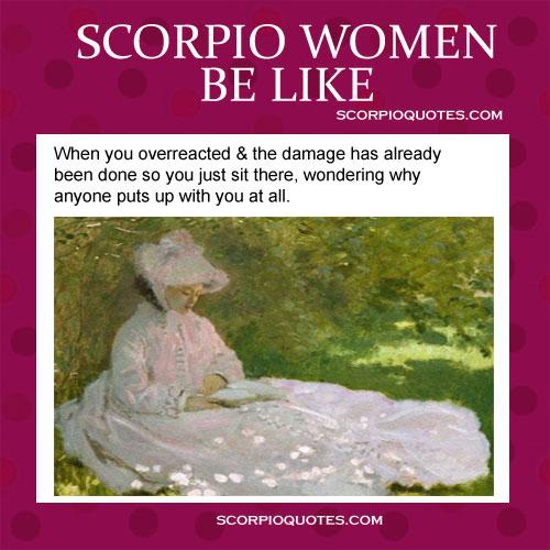 Scorpio Women Be Like Funny Meme 1