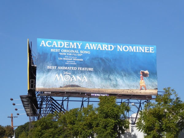 Disney Moana Academy Award Nominee billboard
