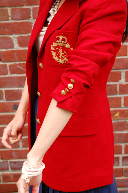 Red Blazer With Gold Buttons Fashion Ql