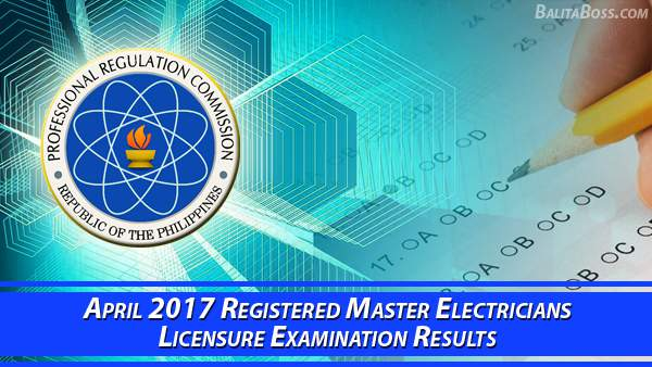 Registered Master Electrician April 2017 Board Exam