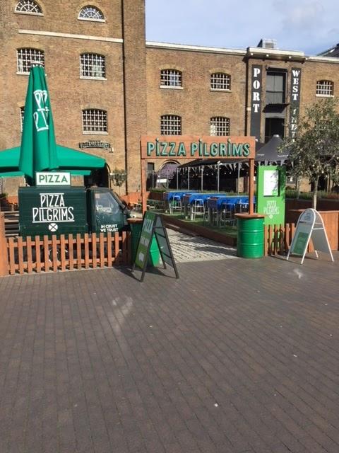 Food Shorts Pizza Pilgrims Canary Wharf