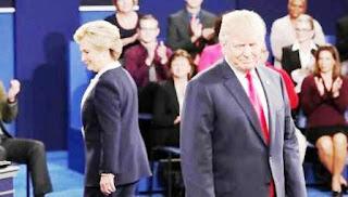 La ex secretaria de Estado no tardó en usar en el debate el escandaloso video con actitudes sexistas de su rival