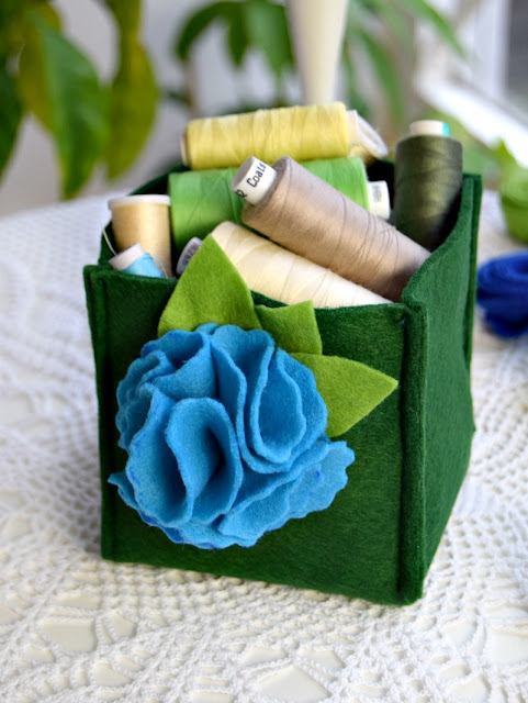 felt storage box free pattern