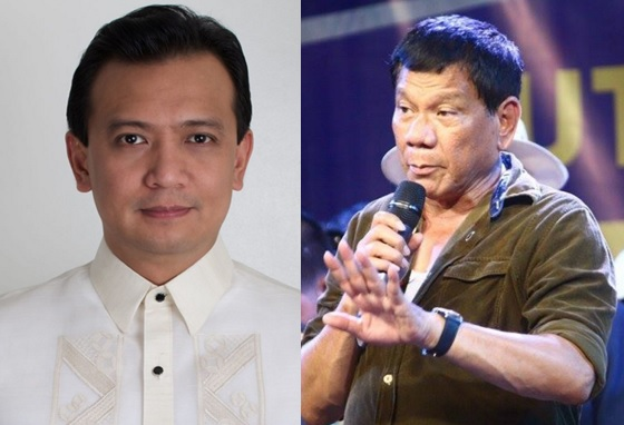 The camps of Mayor Rodrigo Duterte and Senator Antonio Trillanes IV meet up for a face off at BPI Julia Vargas.