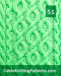Cable Knitting Pattern 51