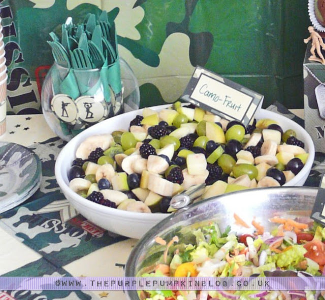 Camo Fruit Salad for an #Army Themed #Party