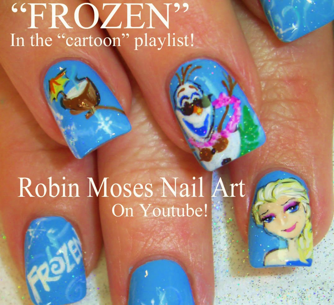 "Disney Princess Tiana Waterfall Nail Art: Robin Moses Nail Art: ""bmx Nails"" ""bike Nails"" ""frog Nails"