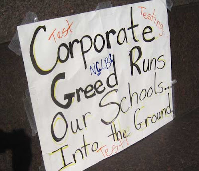 Corporate Greed Runs Our Schools into the Ground