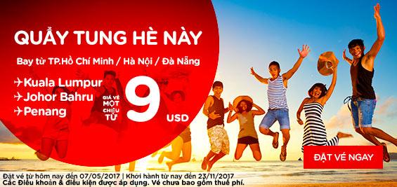 Cùng Air Asia quẩy tung hè này chỉ từ 9 USD