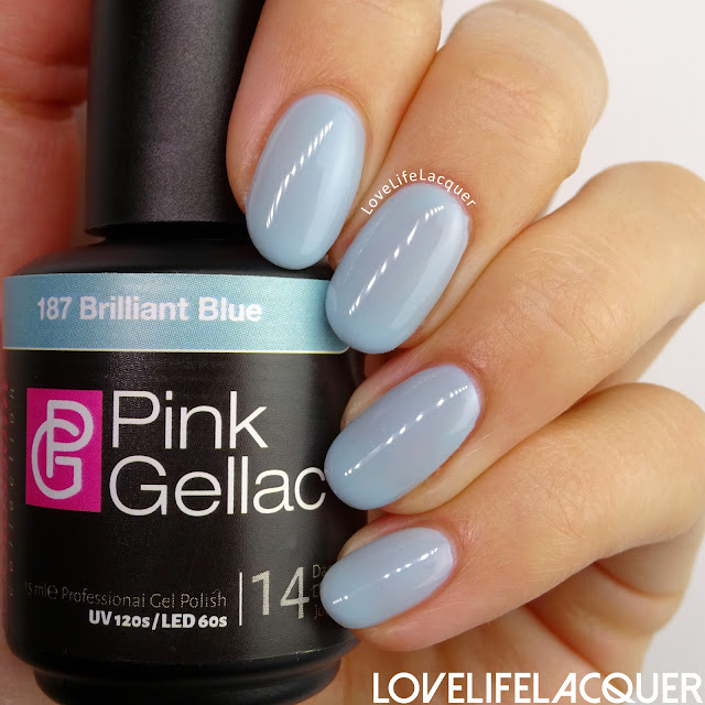 Pink Gellac Blossom Collection Brilliant Blue