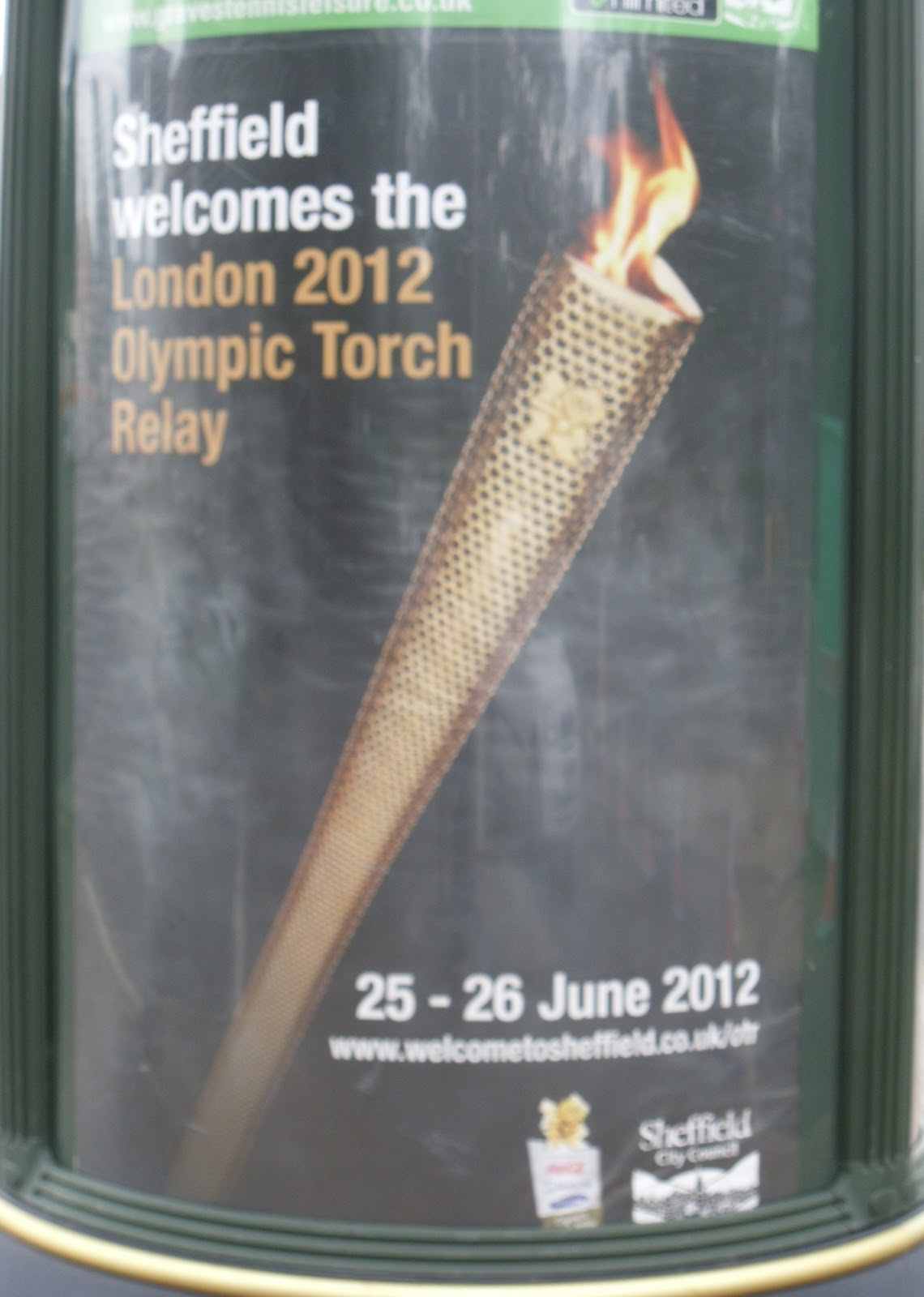 The olympic torch as a personification of unity and peace