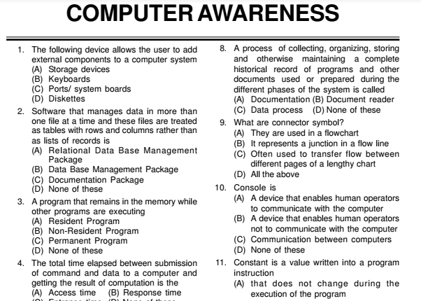 basic computer mcqs with answers pdf free download