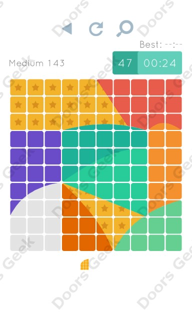 Cheats, Walkthrough for Blocks and Shapes Medium Level 143