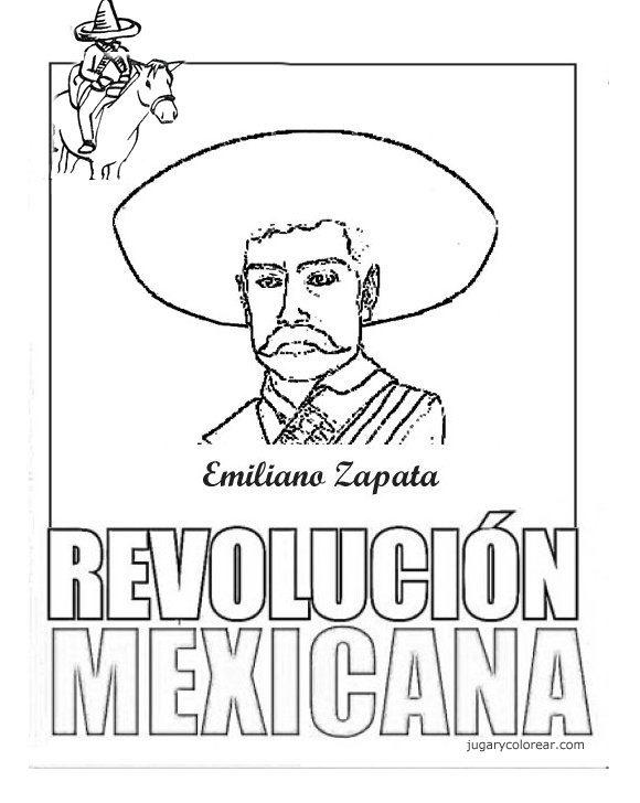 Dibujos Para Colorear Revolución Mexicana Colorear Dibujos