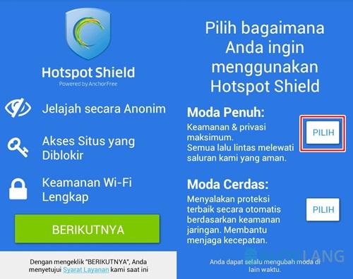 Membuka situs yang diblokir di Android