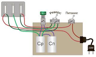 Как подключить трехфазный двигатель в однофазную сеть 100