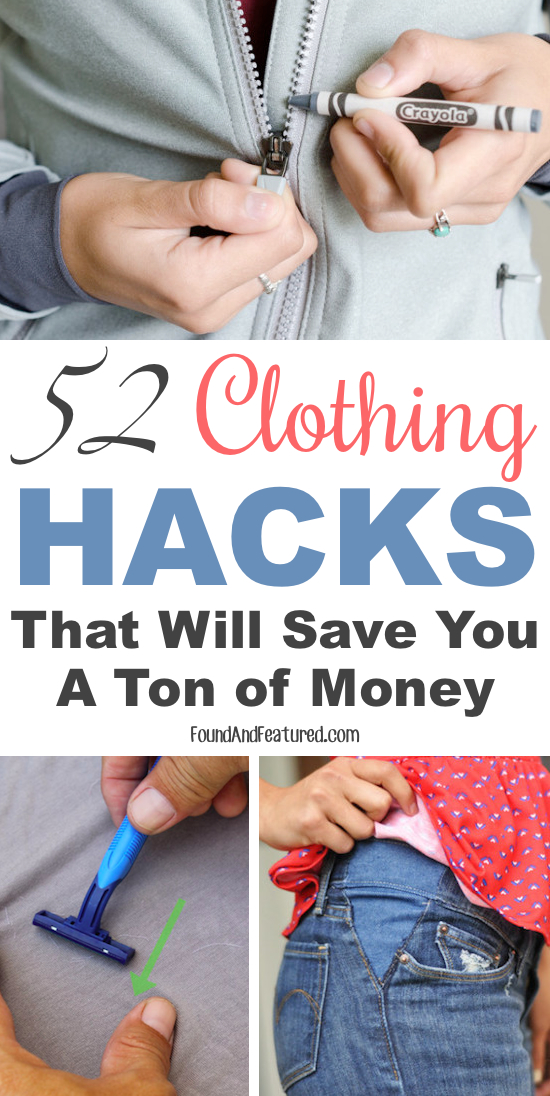 52 Clothing Hacks That Will Save You A Ton of Money