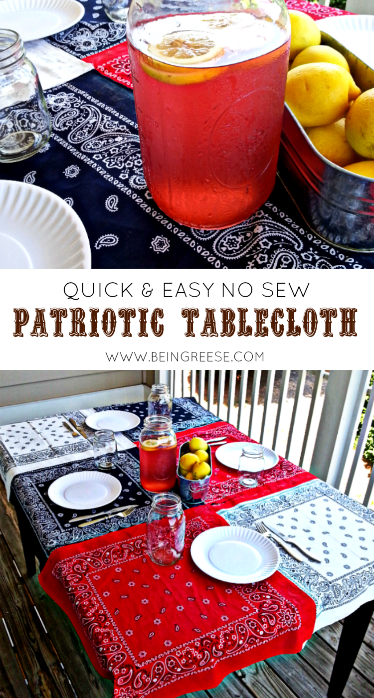 DIY no sew tablecloth