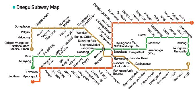 Daegu Subway Map