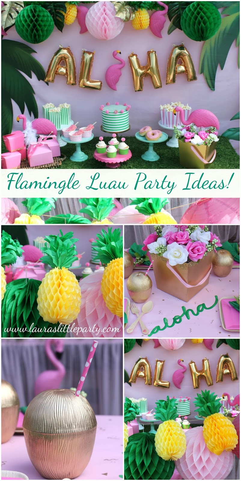 lets flamingle luau summer party ideas lauras little party