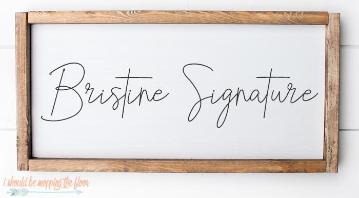 Bristine Signature