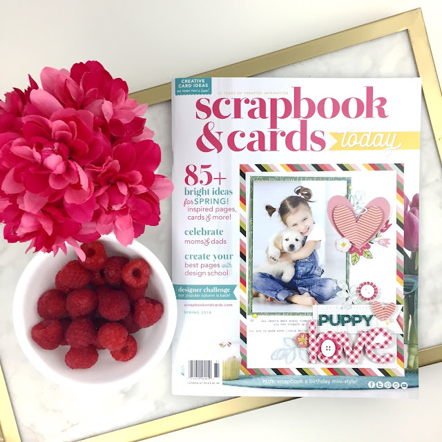 Scrapbooking Magazine Cover for Scrapbook and Cards Today Magazine by Jen Gallacher. Includes sneak peek of 2018 Spring SCT Magazine Cover. Download your free copy now!