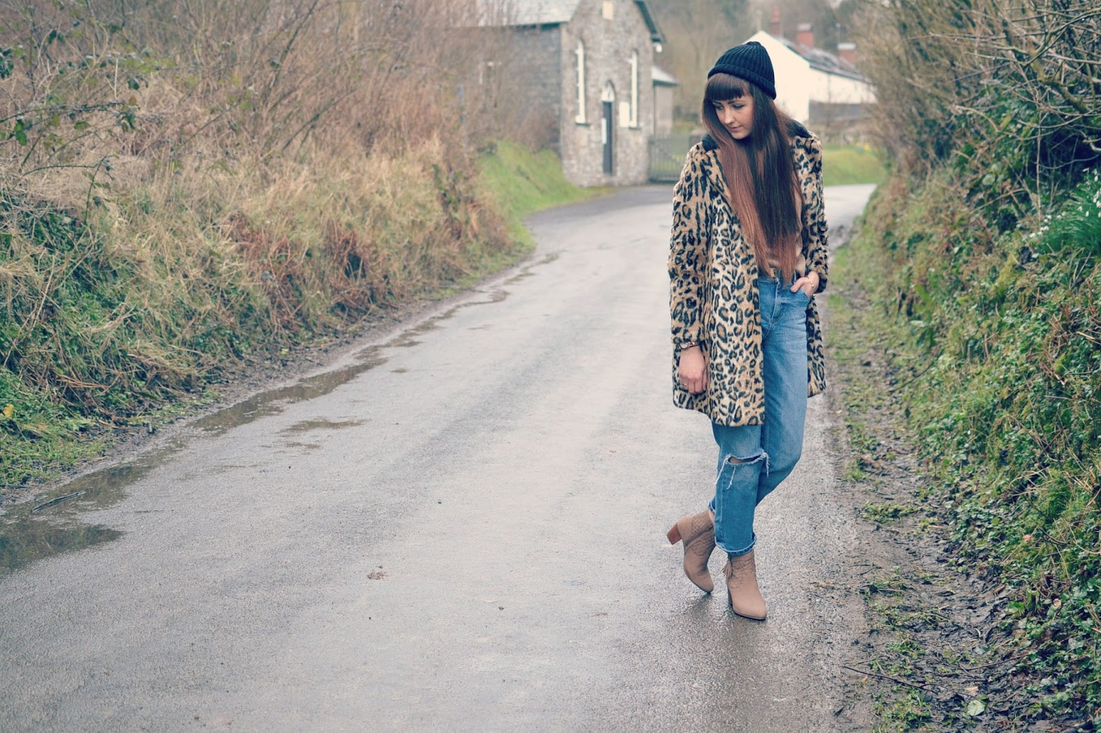 New Look boots Topshop leopard coat