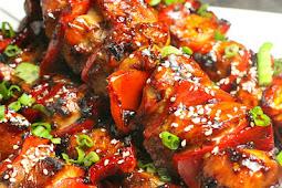 KOREAN BBQ CHICKEN SKEWERS