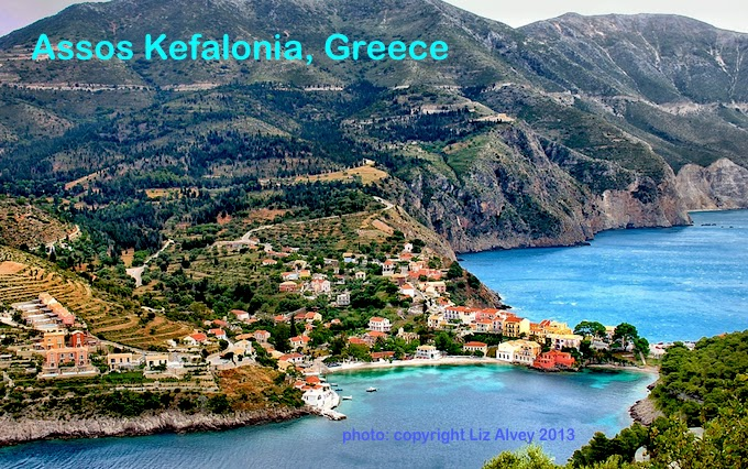 Village of Assos on the island of Kefalonia Greece Copyrighty Liz Alvey 2013