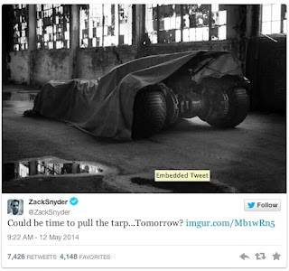 Superman vs Batman Batmobile Ben Affleck Zack Snyder