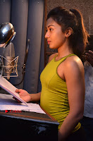 Actress Catherine Tresa Pos during Self Dubbing for Gautham Nanda Movie  0050.JPG
