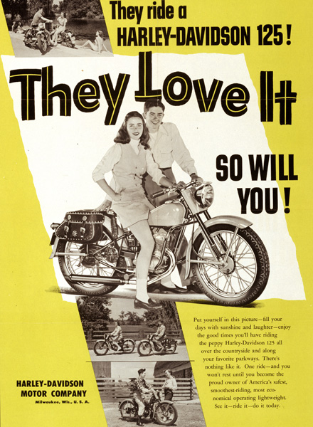 Harley Davidson Advertising: Harley-Davidson Advertising 1950's