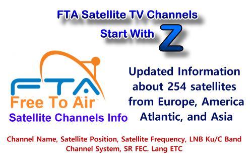FTA satellite TV channels Start with Z