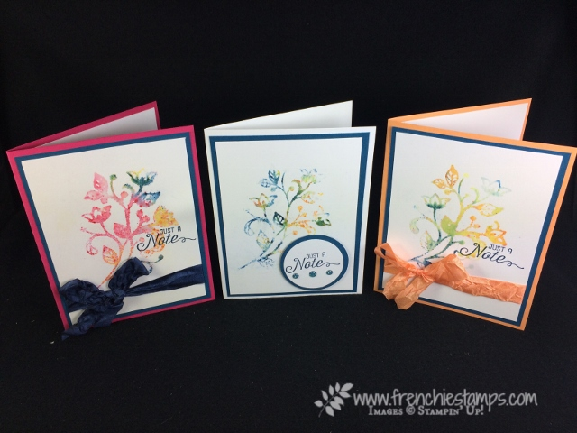 Flourishing Phrase, Stamping with Brusho, Stampin'Up!, Frenchie Stamps,