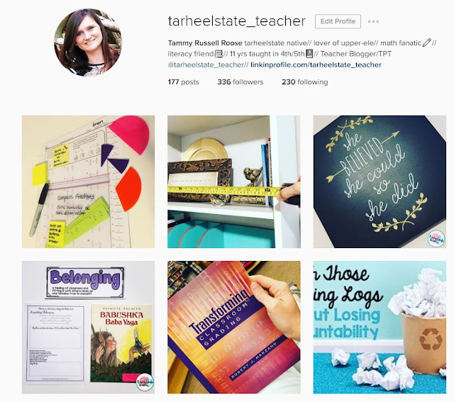 follow tarheelstateteacher on instagram