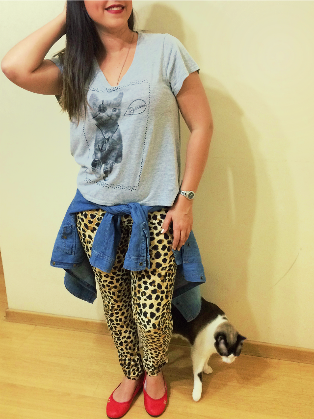 Look do dia e gatinha Valentina