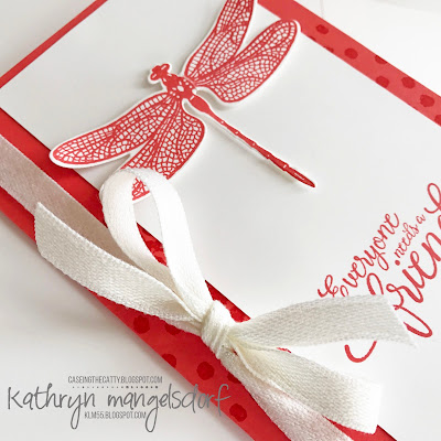 Stampin Up! Dragonfly Dreams & Detailed Dragonfly Thinlits created by Kathryn Mangelsdorf