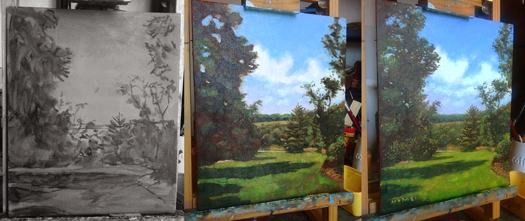 Hillier gardens painting wip-oil painting stages