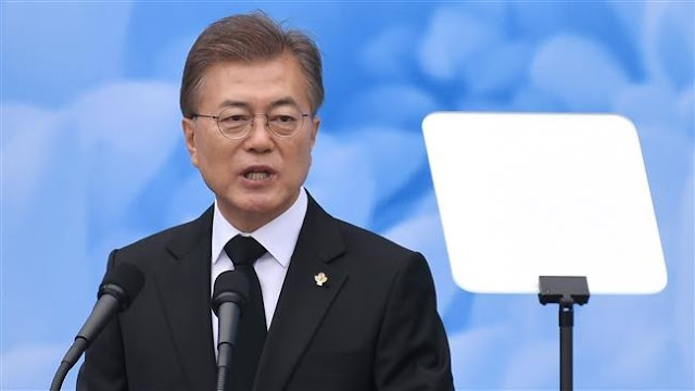 South Korean President Moon Jae-in invites North to participate in 2018 Winter Olympics to boost peace