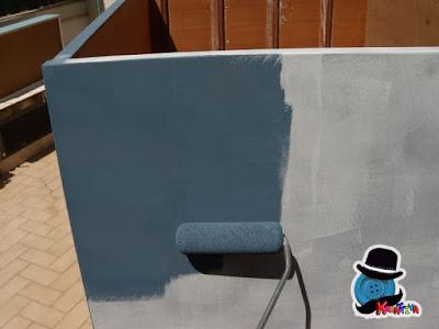 dipingere con rullo superficie cassettiera