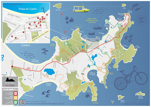 Mapa de Búzios - RJ