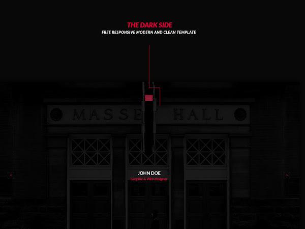 Download The Dark Side Portfolio Template Free