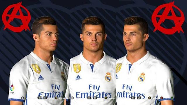 PES Cristiano Ronaldo New Face Hair By AA Minostau - New face hair cristiano ronaldo pes 2013