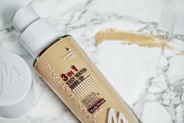 one brand face manhattan cosmetics 3 in 1 easy match foundation